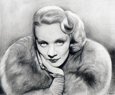 Marlene Dietrich by MLS-art