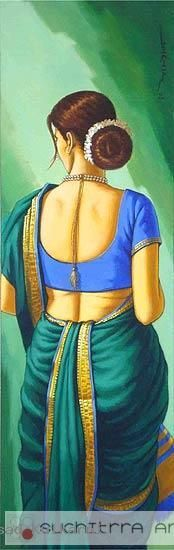 Prasad Kulkarni Paintings by Prasad Kulkarni Prasad Kulkarni Painting Indian Women Painting, Indian Art Paintings, Indian Folk Art, Indian Artist, Cool Art Drawings, Art Sketches, Indian Drawing, Woman Sketch, India Art