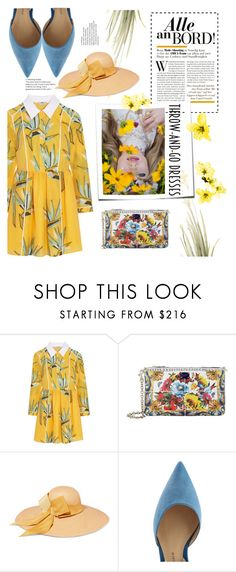 """""""Throw-and-Go dresses"""" by ana-maria-0307 ❤ liked on Polyvore featuring Fendi, Dolce&Gabbana, Sensi Studio and Paul Andrew"""