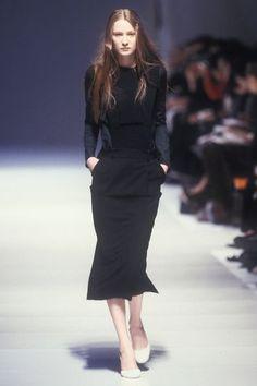 Nicolas Ghesquire for Balenciaga Fall/Winer 1999 Nicolas Ghesquière, Alaia, Balenciaga, Peplum Dress, Runway, Silhouette, Style Box, Fall Winter, Autumn