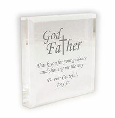 Personalised Square Acrylic Keyring Best Ever Godmother