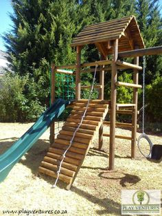 Play Ventures manufactures and install quality wooden playground equipment (jungle gym) for residential and commercial use. Visit our website at www.playventures.co.za or facebook at www.facebook.com/playventures