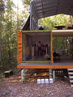 New obsession - shipping container houses...great article with step by step pics of container house construction.