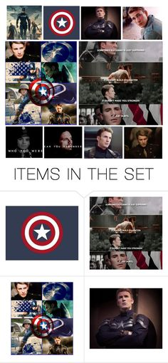 """""""the captain america"""" by heartandsoul ❤ liked on Polyvore featuring art, boys, expression, TV, CaptainAmerica and artexpression"""