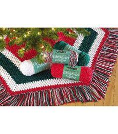 Christmas Glitter Tree Skirt free crochet pattern