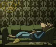 Bored. This is perfect. Great Mouse Detective/Sherlock. I would watch this as much as Sherlock, if not more.