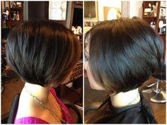 Photo of Hairchitects Salon - Campbell, CA, United States. Soft graduated bob by Danielle E Angled Bob Haircuts, Best Bob Haircuts, Cute Haircuts, Layered Haircuts, Short Bob Hairstyles, Pretty Hairstyles, Hairstyle Ideas, Hair Health And Beauty, Hair Beauty