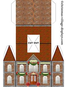ideas for vintage paper crafts templates putz houses Christmas Village Display, Christmas Villages, Christmas Decorations, Christmas Ornaments, Christmas Paper, Christmas Projects, Christmas Home, Christmas Mantles, Victorian Christmas