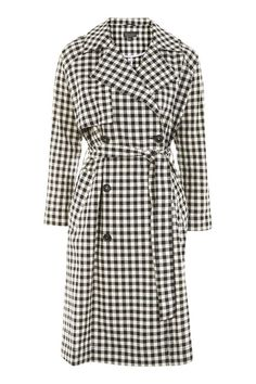 Topshop Gingham Trench Coat  $150