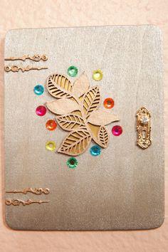 Golden Leaf Sparkle Fairy Door by CrystalandLeaf on Etsy