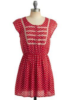 Congenial Cutie Dress   Mod Retro Vintage Printed Dresses   ModCloth.com