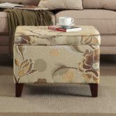 Found it at Wayfair - Floral Storage Ottoman