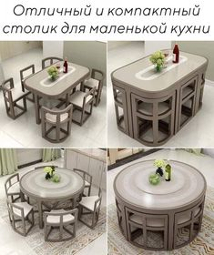 Home Building Design, Home Room Design, Interior Design Kitchen, Space Saving Dining Table, Space Saving Furniture, Unique Dining Tables, Wooden Dining Tables, Kitchen Furniture, Home Furniture