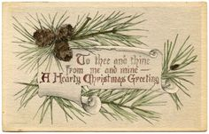 *The Graphics Fairy LLC*: Vintage Christmas Graphics - Pine Branch Frame