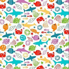 pattern - sharks, fish & crabs