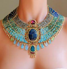 Amazing Egyptian style beaded necklace