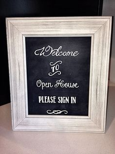 Realtor Open House Welcome Sign by ElleBeeGreetingCards on Etsy