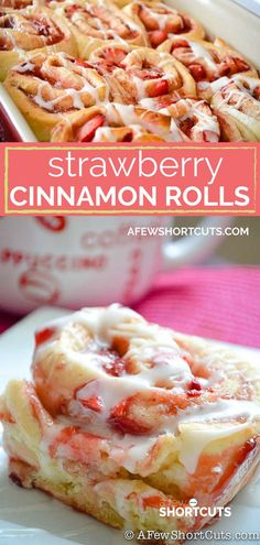 A twist on a classic favorite! This delicious Strawberry Cinnamon Rolls Recipe is a keeper! YUM!