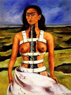 1949 Frida Kahlo Diego et moi, Diego and me,  Huile sur toile montée sur masonite, 29,5x22,4 cm. #Art #Mexico #deFharo