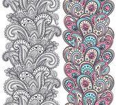 Schöne indian paisley Ornamente — Stockvektor
