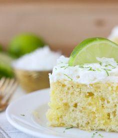 Coconut Lime Poke Cake