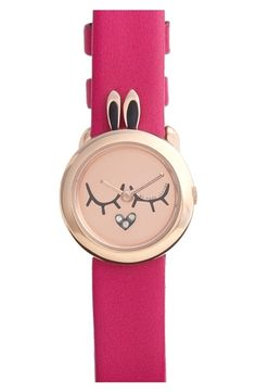 MARC by Marc Jacobs 'Critter' Bunny Dial Watch, 23mm Pink/ Rose Gold from Nordstrom on shop.CatalogSpree.com, your personal digital mall.