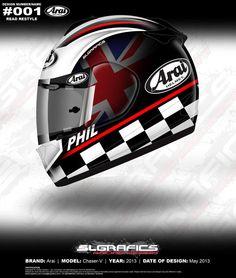"Projects - Arai Chaser-V ""Legends Restyle"" by SL Grafics Racing Helmets, Motorcycle Helmets, Arai Helmets, Marc Marquez, Helmet Design, Valentino Rossi, Motorbikes, Legends, Projects"