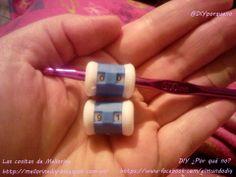 Materiales para manualidades nuevos. Cuenta vueltas #ganchillo #tejer. Row counter #crochet #knitting
