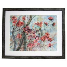 Premier Cherry Tree in Bloom Framed Painting Print