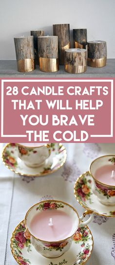 Box of Happies (a monthly subscription box of handmade surprises shipped in a reusable craft box) LOVES DIY!:28 Adorable Candle Crafts That Will Help You Brave The Cold