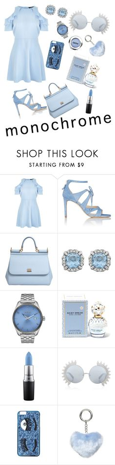 """Blue"" by anastasia-silaeva ❤ liked on Polyvore featuring New Look, Chloe Gosselin, Dolce&Gabbana, Nixon, Marc Jacobs, MAC Cosmetics, Linda Farrow, Chiara Ferragni, Dorothy Perkins and NYX"
