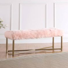 Shop a great selection of Farley Fabric Upholstered Bench. Find new offer and Similar products for Farley Fabric Upholstered Bench. Gold Rooms, Room Ideas Bedroom, Pink Bedroom Decor, Shabby Bedroom, Pink Bedrooms, Pretty Bedroom, Small Bedrooms, Shabby Cottage, Guest Bedrooms