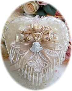 Victorian Lace Heart Shaped Boxes-Lace Boxes,Heart Boxes,Victorian Boxes