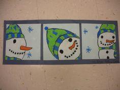 snowman triptych 5th grade