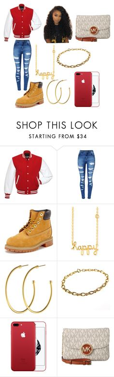 """""""Untitled #200"""" by halo124 on Polyvore featuring WithChic, Timberland, Sydney Evan, Dyrberg/Kern and MICHAEL Michael Kors"""