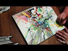 """Tubes of Wonder"" - Watercolor + Pen & Ink Time-Lapse Illustration - JeffJag"