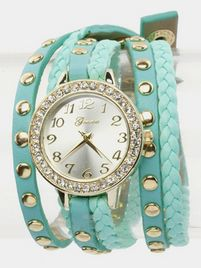 $27 WRAP AROUND BRACELET WATCH (Mint) at https://shopsto.re/items/6399 #accessories #jewelry #watches