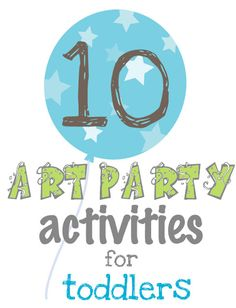 With a toddler, every day is a potential party so here's Dilly-Dali Art: Toddler Art Party Ideas for some summer fun. Art Party Activities, Craft Activities For Kids, Toddler Activities, Projects For Kids, Crafts For Kids, Craft Ideas, Motor Activities, Kunst Party, Art Birthday