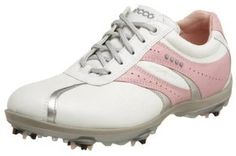 Utilizing hydromax treated leather these womens casual cool hydromax golf shoes by Ecco offer integrated TPU heel stabilizer with asymmetrical arch support