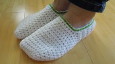 (crochet) How To - Crochet Simple Adult Slippers for Men or Women, thanks so xox