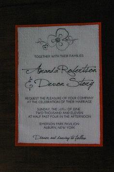 DIY - FABRIC Invites! So cool!