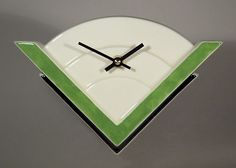 Echo Of Deco Art Deco Ceramic Marconi 2 Wall Clock | eBay