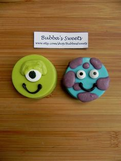Monsters Inc Chocolate Covered Oreos by BubbasSweets on Etsy, $16.00