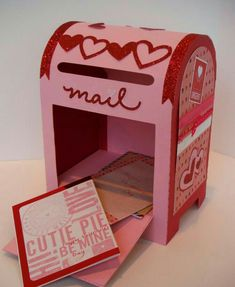 Valentine mail box by iamcocoasmom Valentine Boxes For School, Valentine Crafts For Kids, Homemade Valentines, My Funny Valentine, Valentines Day Decorations, Valentines For Kids, Printable Valentine, Valentine Wreath, Valentine Ideas