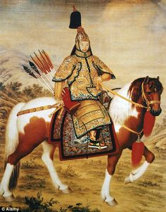 Chinese emperor Qianlong during the 18th century