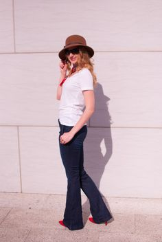 As a flashback to the 70s, flare jeans are hot for fall. I wasn't a fan at first, but then I found a great pair of STS Blue jeans.