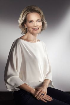 In celebration of her coming 40th birthday the Belgian royal house has release new portraits of Crown Princess Mathilde