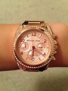Michael Kors Rose Gold Watch. LOVE!