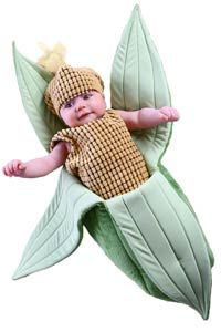 Ear of Corn Baby Costume-REALLY Cute #Halloween #Babies http://poshonabudget.com/2014/09/really-cute-halloween-babies.html via @poshonabudget