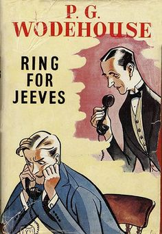 The front cover of the book 'Ring for Jeeves' by P.G. Wodehouse. Published in 1953. Ref: B196_095075_2413 Date: 26.03.2003 Compulsory Credit: UPPA/Photoshot
